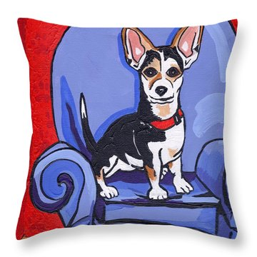 Queen Lucy Throw Pillow by Laura Brightwood