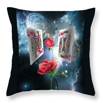 Queen Of Broken Hearts Throw Pillow