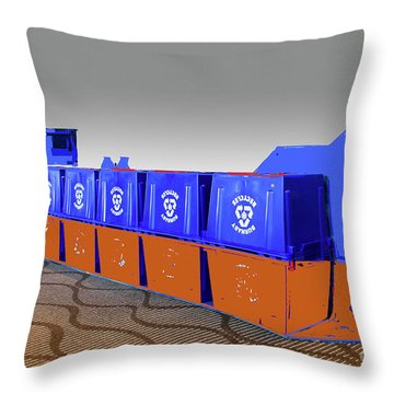 Throw Pillow featuring the photograph Queen Of Carbon  Tanker by Bill Thomson