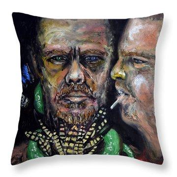 Queen Of Fashion Throw Pillow by Antonio Ortiz