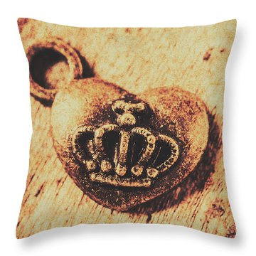 Queen Of Hearts Charm Throw Pillow