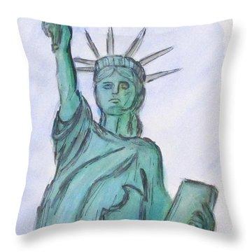 Queen Of Liberty Throw Pillow