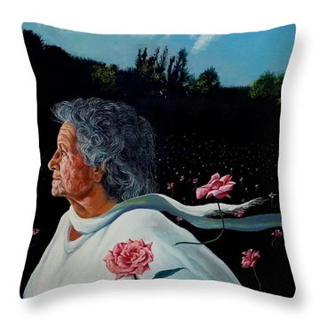 Queen Of Roses Throw Pillow