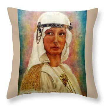 Queen Sheba  Throw Pillow