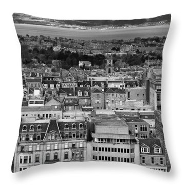 Throw Pillow featuring the photograph Queen Street To The Forth by Adrian Pym
