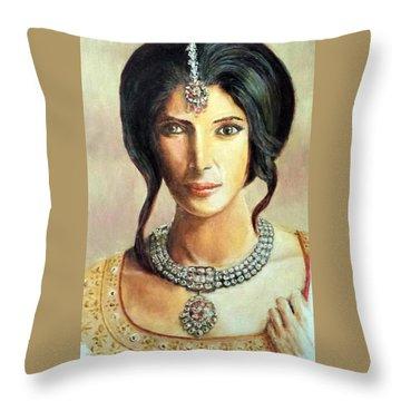 Queen Vashti Throw Pillow