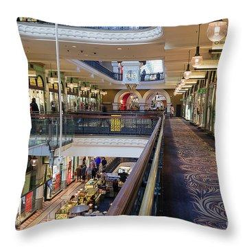 Throw Pillow featuring the photograph Queen Victoria Building, Sydney, Australia by Elaine Teague