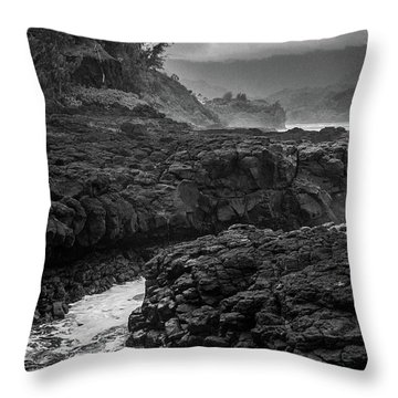 Queens Bath Kauai Throw Pillow