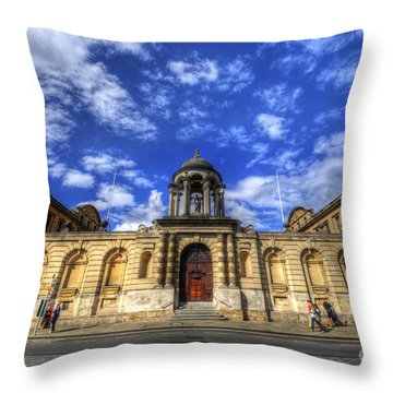 Queens College - Oxford Throw Pillow