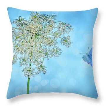 Queens Lace Throw Pillow