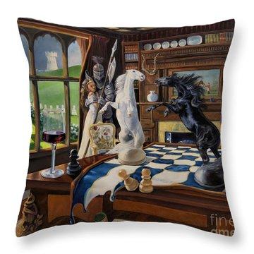 Queen's Magic Throw Pillow by Jeanne Newton Schoborg
