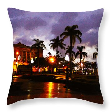 Queens Park Throw Pillow by Susan Vineyard