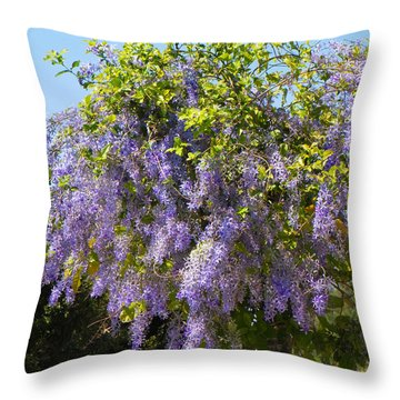 Throw Pillow featuring the photograph Queen's Wreath Vine by Rosalie Scanlon