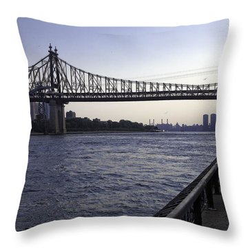 Queensboro Bridge - Manhattan Throw Pillow