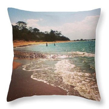 #queensland #beach #beautiful #iloveit Throw Pillow