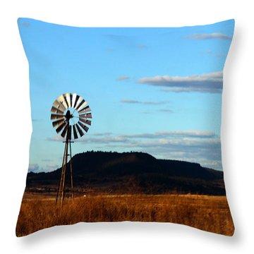 Queensland Windmill Throw Pillow by Susan Vineyard