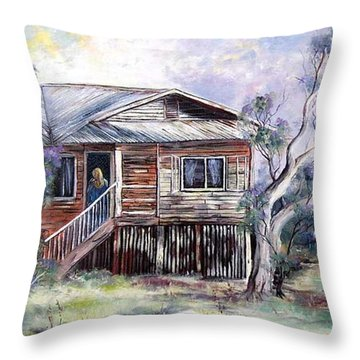 Queenslander Style House, Cloncurry. Throw Pillow