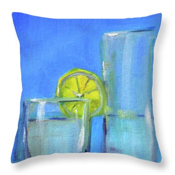Throw Pillow featuring the painting Quench by Nancy Merkle