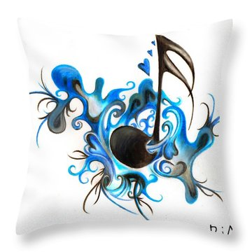 Quenched By Music Throw Pillow