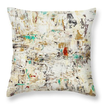 Throw Pillow featuring the painting Quest by Carmen Guedez