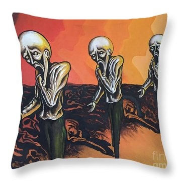 Question To Wonder Throw Pillow