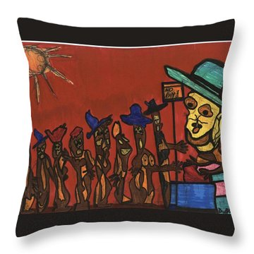 Queuing For Residuals  Throw Pillow