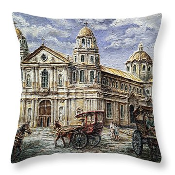 Quiapo Church 1900s Throw Pillow