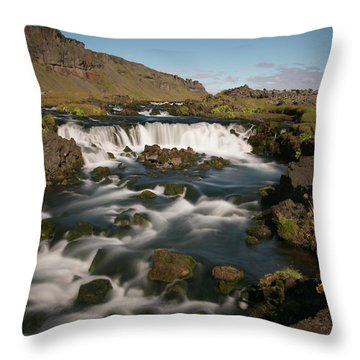 Throw Pillow featuring the photograph Quick Flowing by Elvira Butler