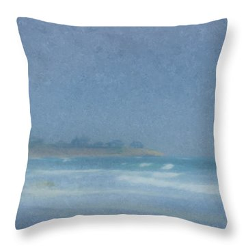 Foggy Afternoon At Little Compton Ri Throw Pillow