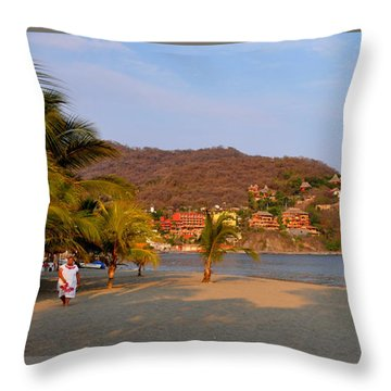 Throw Pillow featuring the photograph Quiet Afternoon by Jim Walls PhotoArtist