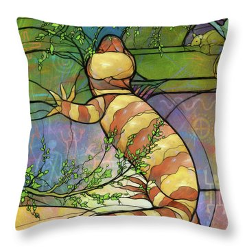 Quiet As A Mouse Throw Pillow