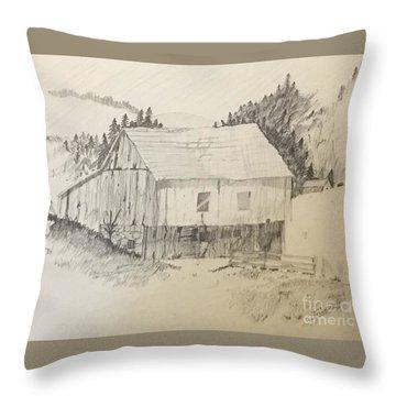 Quiet Barn Throw Pillow