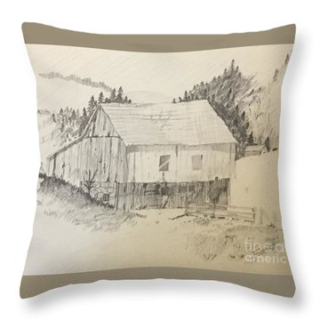 Quiet Barn Throw Pillow