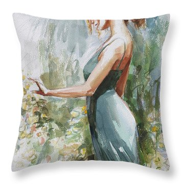 Quiet Contemplation Throw Pillow