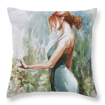Redhead Throw Pillows