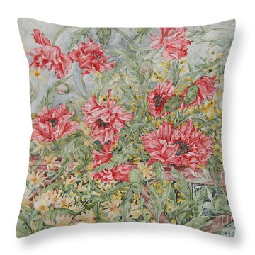 Quiet Corner Throw Pillow by Kim Tran