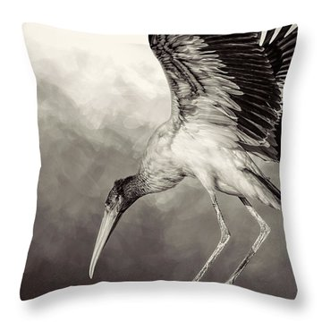 Quiet Throw Pillow by Cyndy Doty