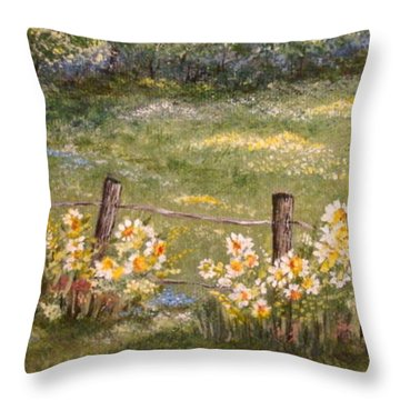 Quiet Field Throw Pillow by Leea Baltes