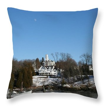 Quiet Harbor Throw Pillow