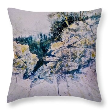 Throw Pillow featuring the painting Quiet Journey by Carolyn Rosenberger