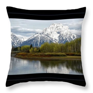 Quiet Morning At Oxbow Bend Throw Pillow