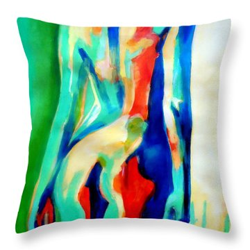Quiet Nude Throw Pillow