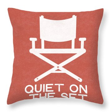 Quiet On Set 2- Art By Linda Woods Throw Pillow