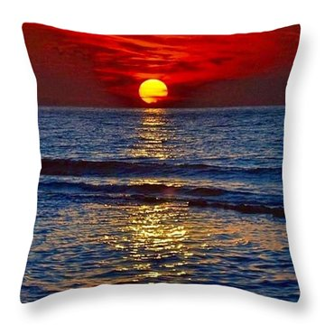 Quiet On The Ocean Throw Pillow