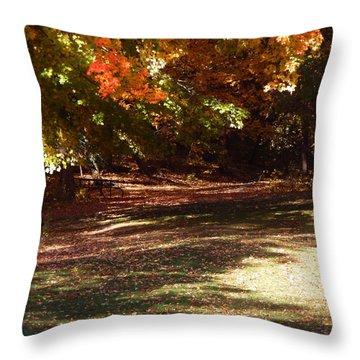 Quiet Picnic Place Throw Pillow