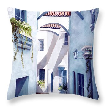 Quiet Quarter Throw Pillow