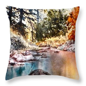 Throw Pillow featuring the painting Quiet Reflections by Carolyn Rosenberger