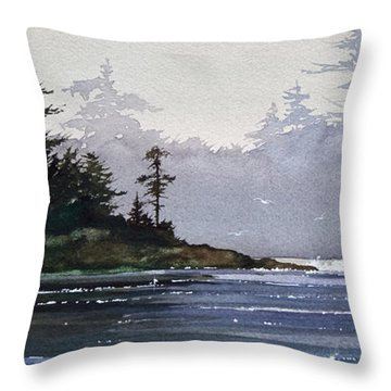 Quiet Shore Throw Pillow by James Williamson