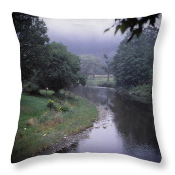 Quiet Stream- Woodstock, Vermont Throw Pillow
