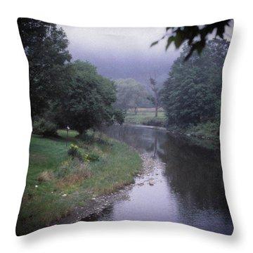 Quiet Stream- Woodstock, Vermont Throw Pillow